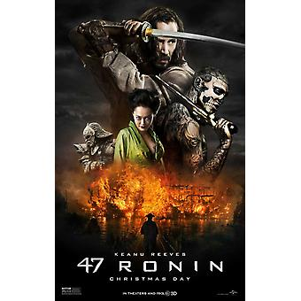 47 Ronin Double Sided Original Movie Poster - Advance Style