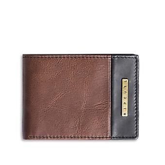Rip Curl Endo Clip RFID Slim Leather Wallet in Brown