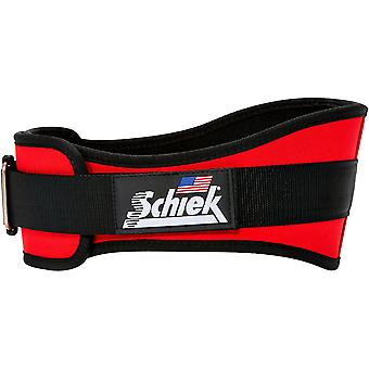 "Schiek Sports Model 2006 Nylon 6"" Weight Lifting Belt - Red"