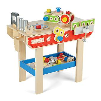 Tidlo Wooden Pretend Play Workbench with Tools Construction Building Play