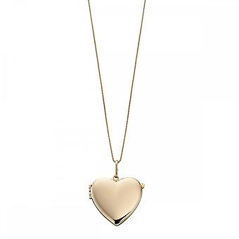 Elements Gold Elements Yellow Gold Plain Heart Locket GP820Z475GN048