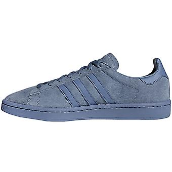 adidas Originals Boys Kids Campus Lace Up Suede Sneakers Trainers Shoes - Blue