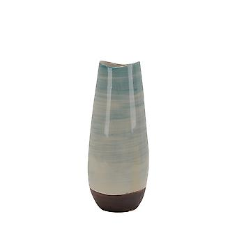 Übergangs-Keramik-Vase mit runder Basis, Multicolor
