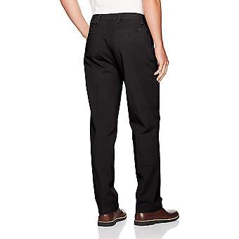 Dockers Men's Classic Fit Workday Khaki Smart, Black (Stretch), Size 36W x 34L