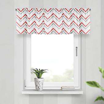Meesoz Valance - Fine Zigzags Red