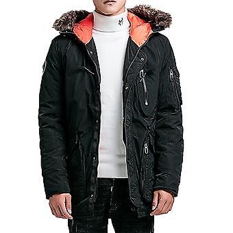 Allthemen Men's Winter Coat Thicken Warm Padded Jacket With Hood
