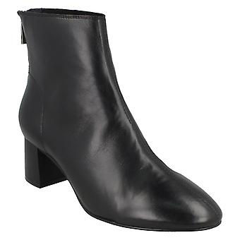 Leather Collection Womens/Ladies Mid Heel Leather Ankle Boots