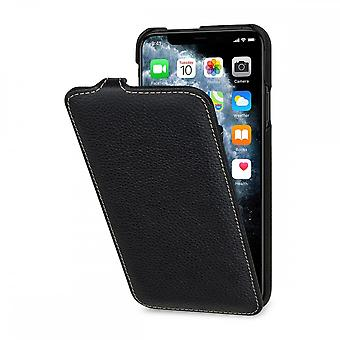 Case For iPhone 11 Pro Max Ultraslim Grained Black In True Leather