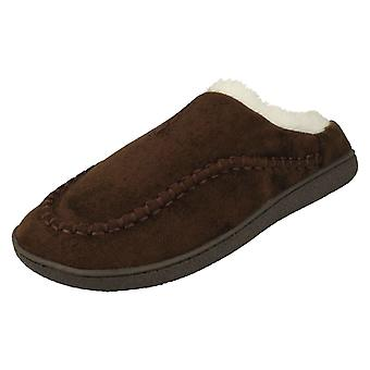 Mens Cushion-Walk Warm Lined Mule Slippers Boris