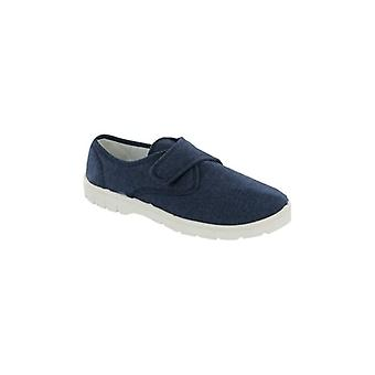 Mirak Harvey Mens Canvas Touch Fasten Shoes Navy