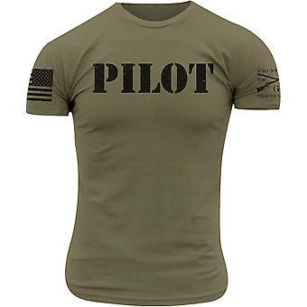 Camiseta piloto de estilo Grunt - verde militar