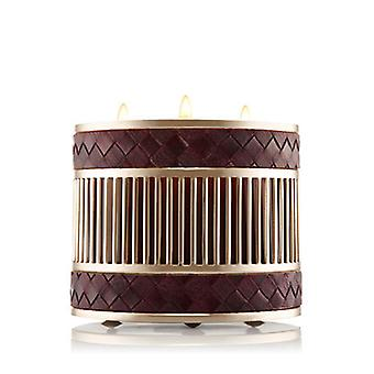 Bath & Body Works Woven Vegan Leather 3 Wick Candle Sleeve