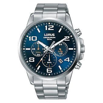 Montre Lorus RT393GX9 - Chronographe/Dateur Bracelet Cuir Noir Bo�tier Acier Argent� Homme