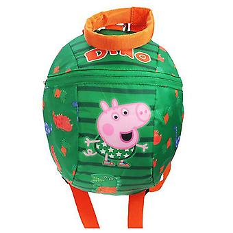 Peppa Pig Boys Toddler Backpack with Reins 2.5 L, Green