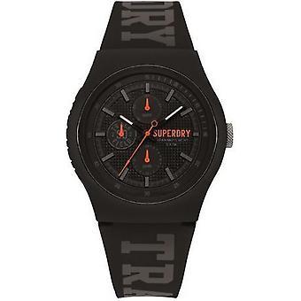 Superdry SYG188BB watch - watch Silicone black man