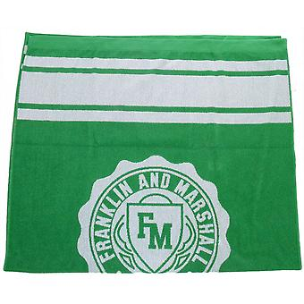 Franklin & Marshall Crest Logo Jelly Green Unisex Beach Towel