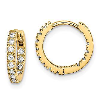 14k Madi K CZ Cubic Zirconia Simuleret Diamond Hængslet Hoop Øreringe smykker Gaver til kvinder