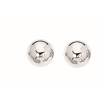 925 Sterling Silver With Rhodium Finish 7.0mm Textured Shiny Stud Earrings Jewelry Gifts for Women