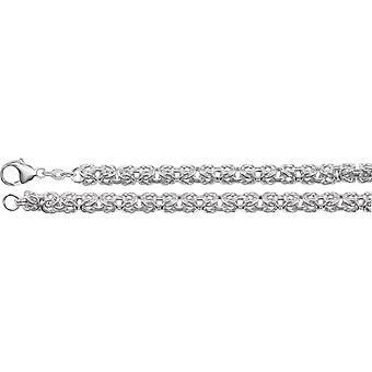 925 sterling sølv 6mm halskjede bysantinsk kjede med hummer lås smykker gaver til kvinner - lengde: 16 til 18