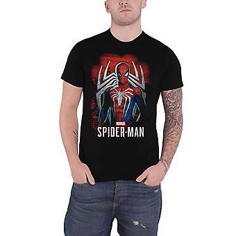 Oficial Spiderman Camiseta Spidey Juegos Stance nuevo Oficial Marvel Hombres Negro