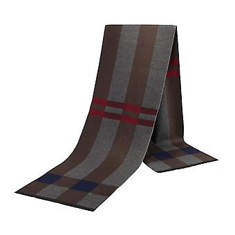 Grey blue & brown stripe luxury bamboo men's scarf