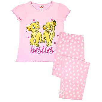 Disney Lion King Besties Simba & Nala Cubs Girl's Pink Long Pyjamas