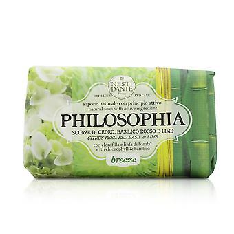 Jabón Natural Philosophia - Brisa - Cáscara de cítricos, Albahaca Roja y Lima Con Clorofila y Bambú 250g/8.8oz