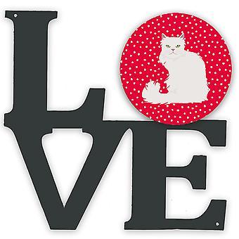 asiatiske semi langhåret katt kjærlighet metall vegg kunstverk kjærlighet