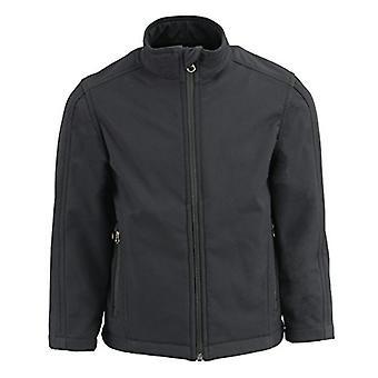 Milwaukee Leather Boy's Lightweight Zipper Front Soft Shell Jacket (Black, L)