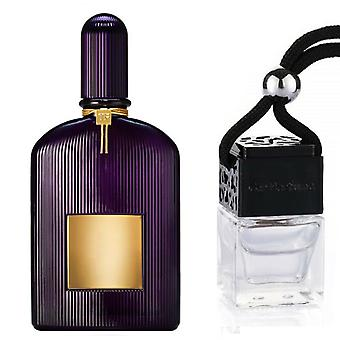 Tom Ford Velvet Orchid For Her Inspired Fragrance 8ml Black Lid Bottle Hanging Car Vehicle Auto Air Freshener