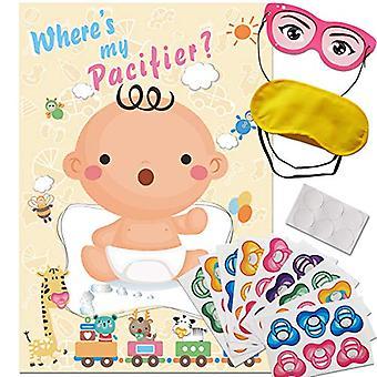 ADJOY Pin der Schnuller auf das Baby-Spiel - Baby, hellgelb, Größe 32 x 21.3