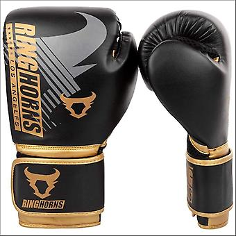 Ringhorns charger mx boxing gloves black/gold