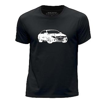 STUFF4 Boy's Round Neck T-Shirt/Stencil Car Art / E 63 S W 213/Black