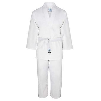 Bytomic adult white v-neck uniform