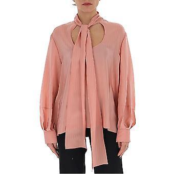 Chloé Chc20uht253076l6 Women's Pink Silk Blouse
