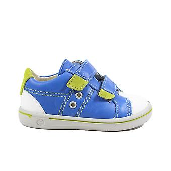 Ricosta Nippy 2623000-151 Azur Blue Leather Boys Rip Tape Shoes