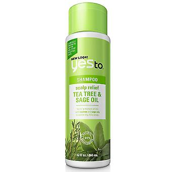 Yes to naturals shampoo, scalp relief, tea tree & sage oil, 12 oz