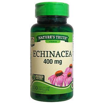 Nature's verdade echinacea, 400 mg, cápsulas de liberação rápida, 100 ea