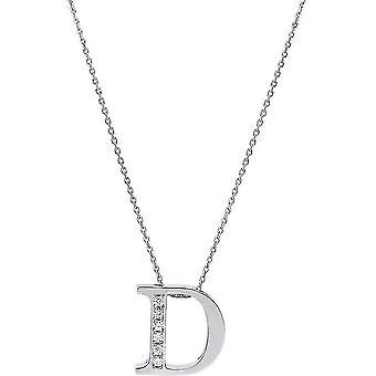 Diamantcollier  Collier - D - 14K 585/- Weissgold - 0.04 ct.
