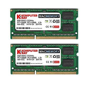Komputerbay PC3-10600 16GB (2x 8GB) 204-Pin 1333MHz SODIMM Laptop Mac Speicher speicher für Apple Mac