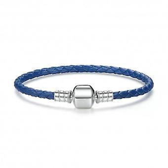 Woven Leather Charm Bracelet - 5756