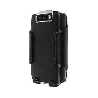BlackBerry 9550 Storm 2 nahka kotelossa Combo - musta (suurin pakkaus)