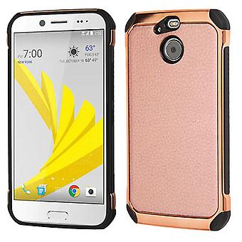 ASMYNA Astronoot Case pour Bolt - Rose Gold Lychee Grain (Rose Gold Plating)/Black