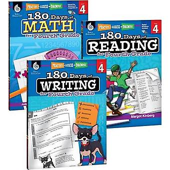 180 Days of Reading - Writing and Math for Fourth Grade 3-Book Set by