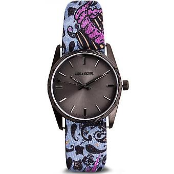 Zadig and Voltaire FUSION ZVF206 Watch - Women's Pattern Fabric Watch