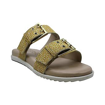 Naughty Monkey Womens Hey Pony Cuir Open Toe Casual Slide Sandals