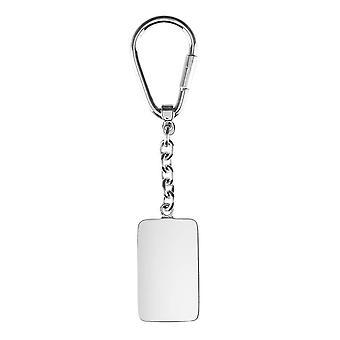 Orton West Dog Tag Key Ring - Zilver