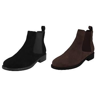 Leather Collection Womens/Ladies Suede Leather Ankle Boots