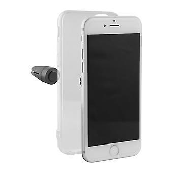 Mobilt omslag Iphone 8 KSIX Flex Klip Transparent