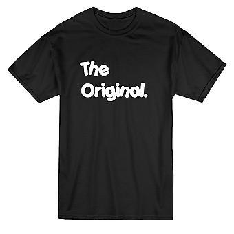 Оригинал, соответствия папа сын Мужская футболка